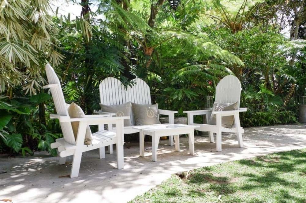 White Chairs in Antonio's in Tagaytay